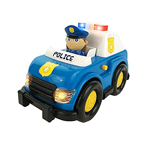 Boley Light and Sound Police Car Toy - Electric siren with flashing lights - perfect educational toy for toddlers that seek imaginative and pretend (Police Car Dvd)