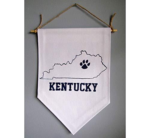 UK Wildcats Fan Gear/UK Dorm Room Decor/University of Kentucky/Kentucky State Map/Kentucky Wildcats Fan Gear/UK Basketball Fan Sign