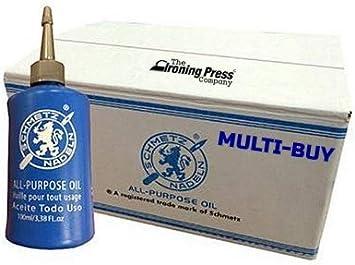 Schmetz - Aceite lubricante para máquina de coser multiusos (descuento a granel para grandes ahorros) 3 x 100ml Bottles transparente