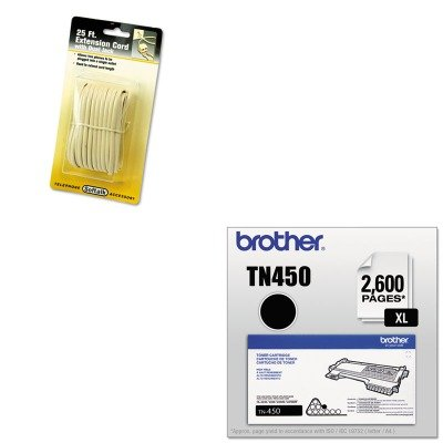 KITBRTTN450SOF04130 - Value Kit - Softalk Telephone Extension Cord (SOF04130) and Brother TN450 TN-450 High-Yield Toner (BRTTN450)