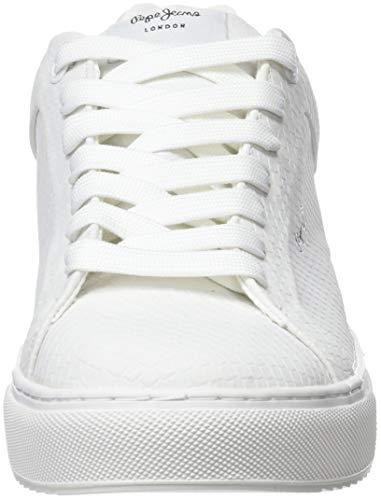 Pepe 802 Jeans Blanco White Adams Optic Zapatillas para Samy Mujer wZ1Bqax