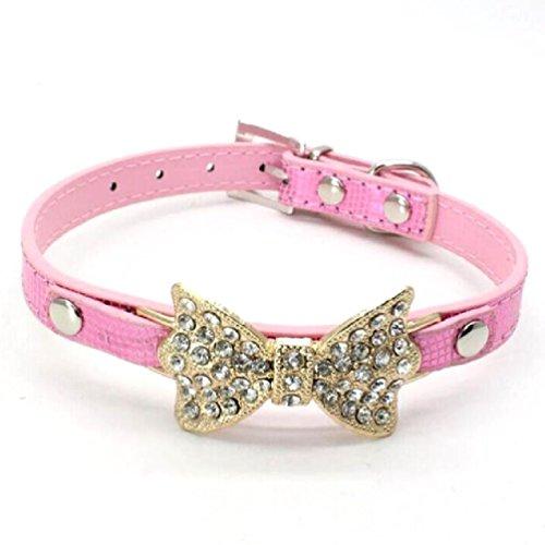 Inteeon Pet Series Bling Rhinestone Pet Dog Collar Supplies leash Harness sets Cat puppy ()