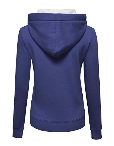 Cordón Sweatshirts Otoño Chica Con Cremallera Larga Basicas Con Chaquetas Capucha Mujer Hipster Manga Sudaderas Hoodies Azul Abrigos Con Deportivas Elegantes Invierno Casual 7w0AxPqx