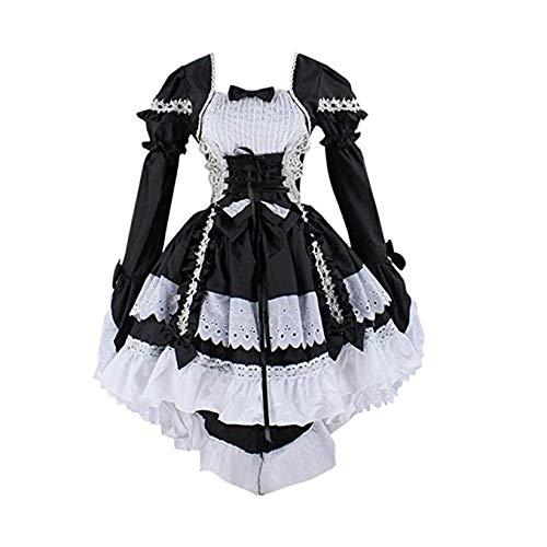 Traje de Cosplay, Vestido de Lolita, Vestido Anime gótico de Maid ...