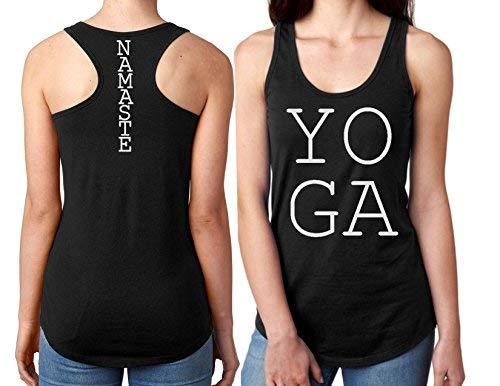 a481f061d8 Amazon.com: Yoga Tank Tops for Women (Black) T Shirt (L): Clothing