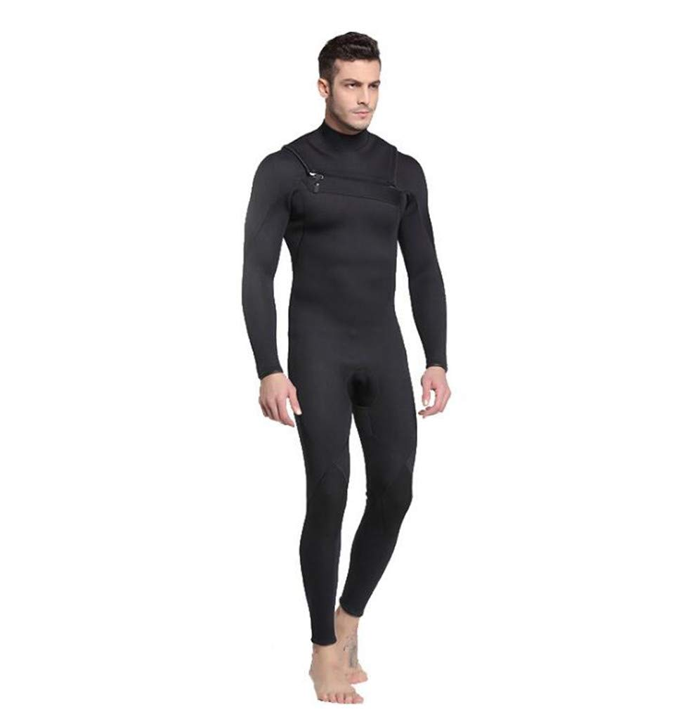 3ミリメートルメンズウェットスーツ全長予防クラゲ保つ保温防寒冬水着ディープダイブワンピース長袖 B07P8C3CPX  Medium Medium