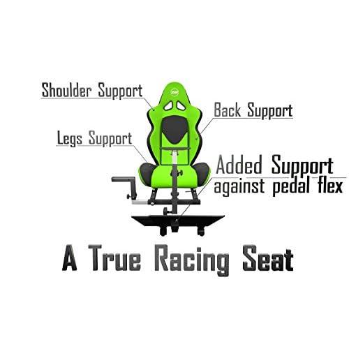 Openwheeler Racing Wheel Stand Cockpit Green on Black   For