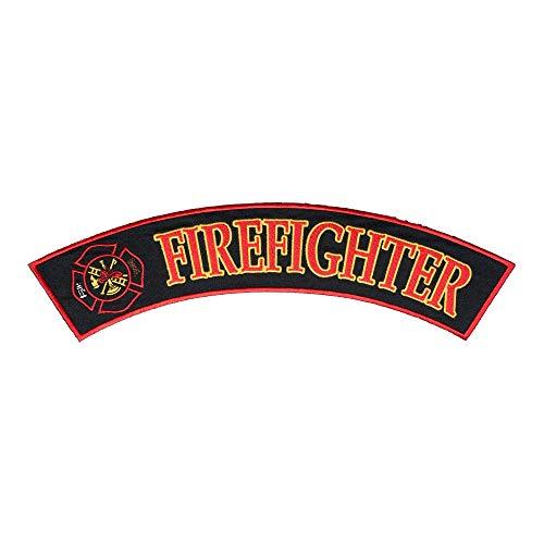 Firefighter Maltese Cross Rocker Patch, Large Size