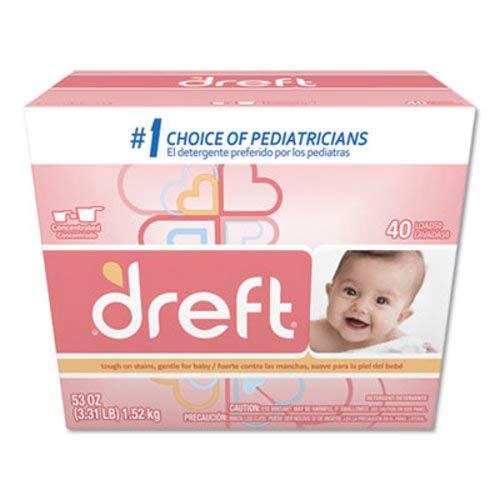 Dreft 85882 Ultra Powdered Laundry Detergent, Baby Powder Sc