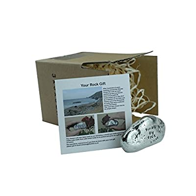 Pirantin 1st Anniversary You are My Rock Gift Idea - Solid Metal Heavy Polished Rock Gift for 1 Year Anniversary : Garden & Outdoor