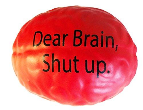 - Aston Grace Brain Stress Ball Reliever Toy, Color Red, Dear Brain, Shut Up