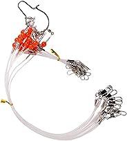 12pcs/lot Stainless Steel Fishing Rigs Wire Leader Rope Line Swivel String Hooks Balance Bracket Fishing Tackl