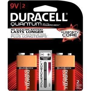 DURA 2PK 9V Battery (Light Duracell Lantern)