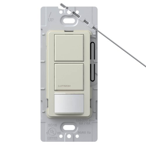 Lutron Lutron MS-OPS6-DDV-LA Maestro 6 Amp Single Pole Dual Circuit Occupancy Sensing Switch, Light Almond