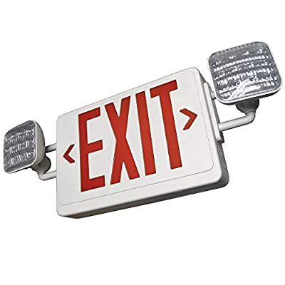 SupremeLED All LED Exit Sign & Emergency Light Combo with Battery Backup