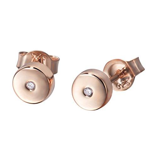 Sterling Silver Dot Circle Bracelet Round Disc Chain Bracelet Tiny Bead Minimalist Bracelet (silver) (rose gold plated cz)