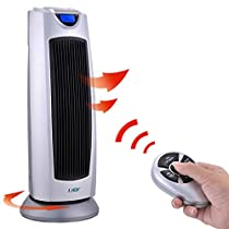 Digital ceramic tower heater with remote control,Electric heater Thermostat Portable Widespread oscillation Energy saving Bathroom waterproof-A