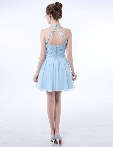 a1d79821f44 2018 Prom Dress Plus Size Short Homecoming Dresses for Girls Graduation  Lace Appliqued Empire Waist Triangle Back Illusion Formal Party Gown L039  Light ...