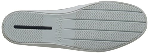 Sperry Bahama Canvas, Mocasines de Lona Para Hombre Blanco