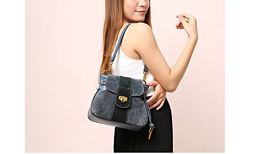 Handbag Blue Bag Leather Saddle Shoulder Bag Retro By Simple JiYe Women's Handbags Lady 7pHwnUSI