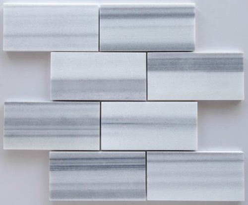 Mink Marmara Equator Marble 3 X 6 Subway - Brick Tile, Polished - Box of 5 sq. ft. (Mink Marble)