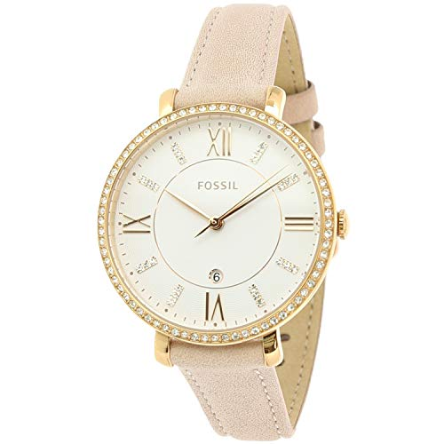 Fossil Jacqueline Three-Hand Date Blush Leather Watch (Fossil Women Hat)