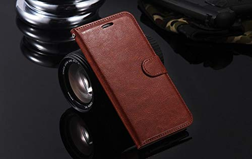Alaira Zenfone 3s Max Vintage PU Leather Smart Wallet Stand Flip Case Cover for Asus Zenfone 3S Max ZC521TL  Brown