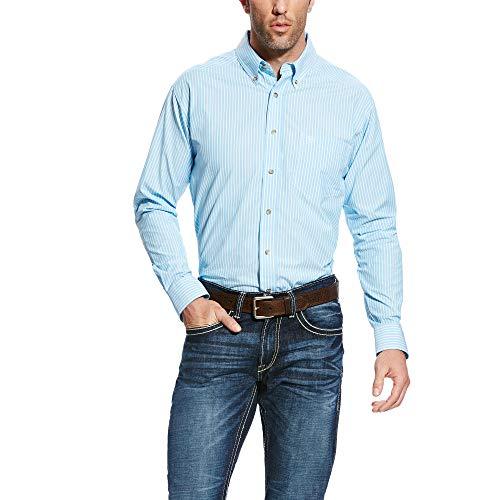ARIAT Men's Pro Series Griffith Shirt Blue Grotto Size ()