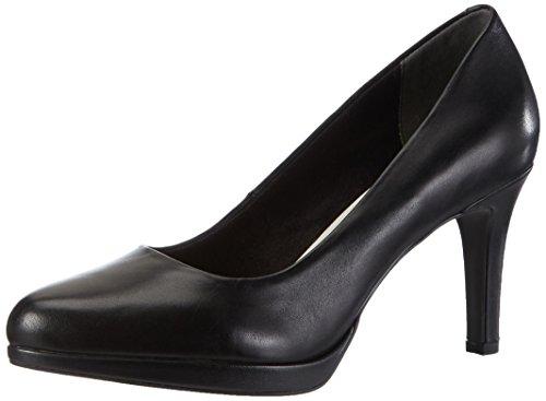 con Scarpe 003 Donna Tacco Leather 22428 Tamaris Black Nero wPgUEE