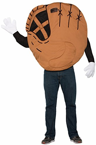[Forum Men's Baseball Mitt Costume, Multi/Color, One Size] (Baseball Catcher Halloween Costume)