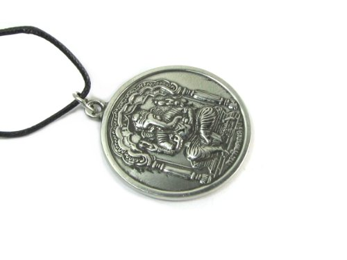 Creative Ventures Jewelry Ganesh, Hindu Deity Pewter Pendant on Cord Necklace, The Vedic Collection