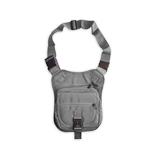 The Ranger Bag Concealed-Carry Shoulder Bag (Grey, Right-Handed) by Ranger Supply Room