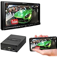 Pioneer MVH-2300NEX 7 Digital Multimedia Video Receiver w/Apple CarPlay, Android Auto (does not play CDs) w/SPA400 Smartphone Mirroring Adapter and a SOTS Lanyard
