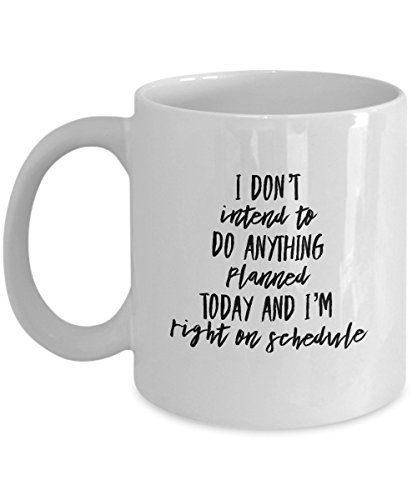 Novelty Fun Coffee Mug - Funny Quote Mug - Gift Mug - Right On Schedule Work Mug