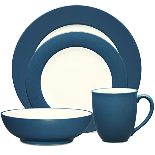Noritake 4-Piece Rim Place Dinnerware Setting in Blue