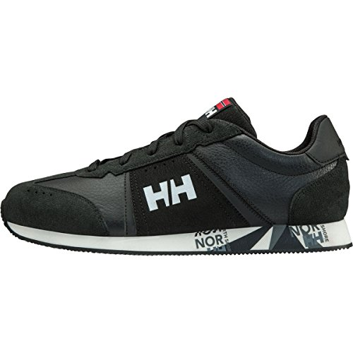 Helly Hansen Flying Skip, Mocassini Uomo, Nero (Black/White/Charcoal/990), 43 EU Nero (Black/White/Charcoal/990)