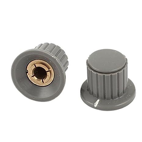 Black Uxcell a15091000ux0971 10 Pcs Metal 6 mm Knurled Shaft Potentiometer Control Knob