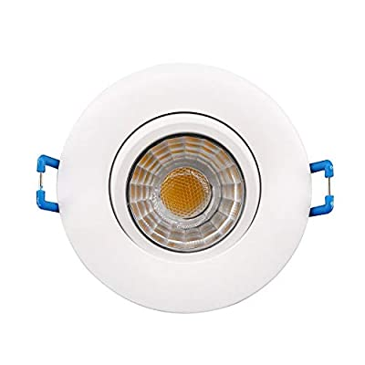 Goodlite G-19845 2.75 Inch LED Round Gimbal Recessed Luminaire 8w 650 Lumens (75W Eqv) with Junction Box for New Or Old Construction IC-Rated, Warm White 3000k Dimmable 120V, 40° 360° Rotatable Eyebal