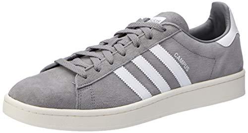 adidas Mens Campus Grey Three Footwear White Nubuck Trainers 10.5 US