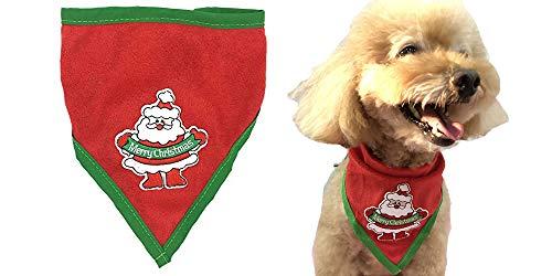 (Alemon Red Santa Reindeer Christmas Dog Bandana for Medium to Large Dogs)