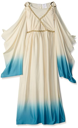 Fun World Girls Greek Goddess Costume, Beige, Medium