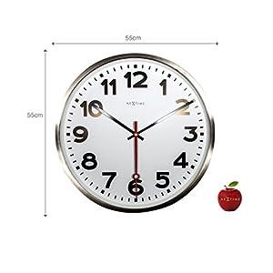 """NeXtime Reloj de pared - Estación de trenes """"SUPER STATION"""", blanco, redondo, ø 55 cm 2"""