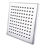 KES J213 ALL METAL 8-Inch Shower Head Fixed Mount Rainfall Style Stainless Steel Square, Polished Chrome