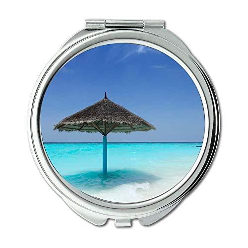 Mirror,makeup mirror,beach beautiful color,pocket mirror,portable -