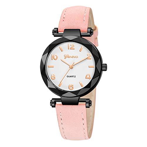Lea Band Watch - Londony✡Women's Watches Leather Rhinestone Inlaid Quartz Jelly Wristwatch Geneva Chronograph Watch with Crystals Link
