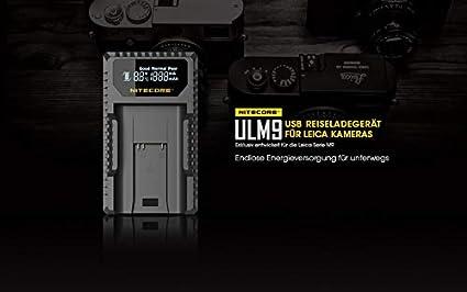 Nitecore Single slot caricabatteria USB con LCD Fuji W126//s