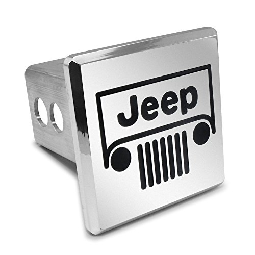 Jeep Grill Billet Aluminum 2 Inch Tow Hitch Cover Jeep Billet Grill