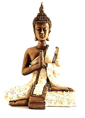 OMA Thai Buddha Meditation & Prayer Buddha Statue Bronze Finish - 8