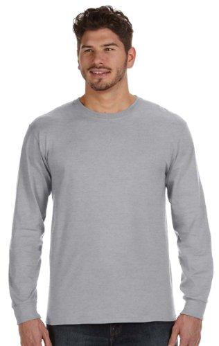 Anvil Mens Ringspun Heavyweight Long-Sleeve T-Shirt (784AN) -Heather GR (Anvil Heavyweight T-shirt)