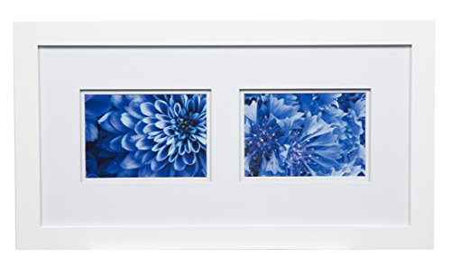 Gallery Solutions 10x20 Flat Wall Frame with Double Mat for